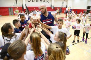 Cyntia Formela z Kartuz na campie Marcina Gortata w USA. Trenowała z centrem Wizards i innymi koszykarzami NBA