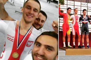 Szymon Sajnok wygrał omnium podczas Pucharu Świata w Kolarstwie Torowym w Apeldoorn
