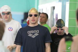 Jakub Skierka siódmy na 100 m grzbietem podczas Zimowych Mistrzostw Polski w Pływaniu 2016 w Olsztynie