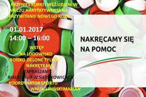 Nowy Rok na orliku w Sierakowicach. Można pograć w piłkę, pojeździć na łyżwach, pośpiewać i pomóc potrzebującym