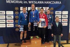 Sebastian Bir, Damian Metza i Kacper Klasa na podium I Pucharu Polski U23 w Zapasach w  Stylu Klasycznym w Raciborzu