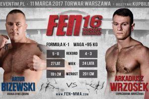 Artur Bizewski walczy w sobotę na gali FEN 16 Warsaw Reloaded. Jego przeciwnikiem będzie Arkadiusz Wrzosek
