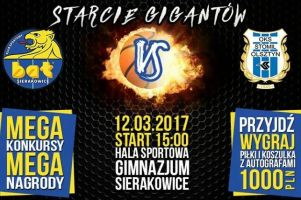 KS BAT Sierakowice - Stomil Olsztyn, czyli mecz na szczycie III ligi, już w niedzielę 12 marca. Czekają emocje, konkursy i nagrody