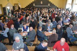 Prawie 200 zawodników zagrało w baśkę podczas XIV Dnia Jedności Kaszubów w Chmielnie. Wygrali Andrzej Dziemiańczyk i Kłos Werblinia