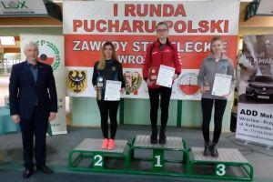 Diana Malotka - Trzebiatowska na podium I Pucharu Polski w Strzelectwie we Wrocławiu