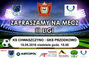 W niedzielę mecz KS Chwaszczyno - GKS Przodkowo. Ostatnie w tym sezonie derby powiatu w III lidze i to jakie