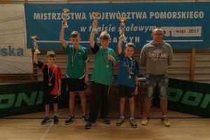Trzy medale pingpongistów Lisa Sierakowice w Mistrzostwach Województwa Pomorskiego Młodzików w Tenisie Stołowym