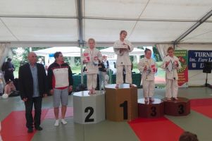 Zawodnicy GKS-u Żukowo dzielnie walczyli ze starszymi rywalami na Ogólnopolski Turniej Judo w Dąbrowie
