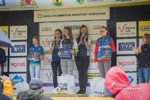 Martyna Krefta zwyciężczynią Maratonu Rowerowego ViennaLife LangTeam w Krokowej. Na podium także Zofia Rzerzutek