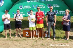 Turniej Siatkówki Plażowej w Żukowie. Rodzina Hendzelewskich oraz Laskowska i Obszańska najlepsi z 16 drużyn