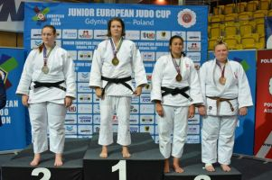 Anita Formela na podium Pucharu Europy Juniorów w Judo w Gdyni. To jej kolejny medal w tym roku