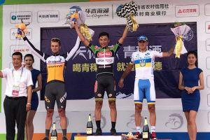 Szymon Sajnok trzeci na 10. etapie wyścigu Tour of Qinghai Lake w Chinach