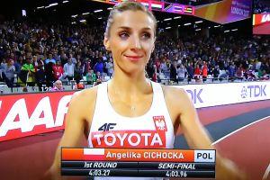 Znakomity bieg Angeliki Cichockiej w półfinale 800 merów w Londynie. W niedzielę wystąpi w finale MŚ