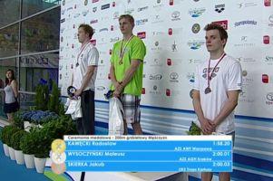 Jakub Skierka brązowym medalistą Mistrzostw Polski na 200 metrów grzbietem. Ma minimum na mistrzostwa Europy
