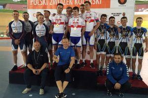 Szymon Sajnok ze złotem w omnium podczas Młodzieżowych Mistrzostw Polski w Kolarstwie Torowym 2016
