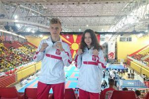 Nikola Zaborowska i Armin Wilczewski zadebiutowali w kickbokserskich mistrzostwach Europy