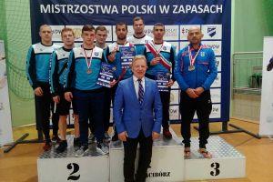 Edward Barsegjan, Gevorg Sahakjan, Edgar Melkumov i Sebastian Bir na podium Mistrzostw Polski Seniorów w Zapasach 2017
