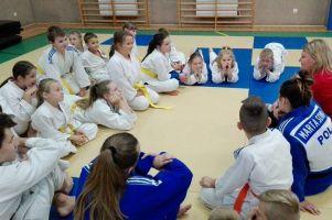 Anita Formela spotkała się z młodymi zawodnikami sekcji judo GKS-u Żukowo