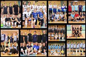 Przodkowska Liga Piłki Siatkowej Kobiet. Zdjęcia drużynowe wszystkich zespołów I i II ligi