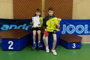 Dawid Michna i Samuel Michna z SP nr 2 Kartuzy mistrzami Wojewódzkich Igrzysk Dzieci w Tenisie Stołowym 2017