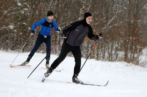 Dobre warunki na trasach do narciarstwa biegowego Cartusia Ski Arena w Kartuzach