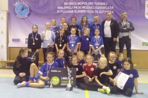 Expert Pantery Sierakowice wygrały Wiosenny Ogólnopolski Turniej Halowy Piłki Nożnej Dziewcząt w Olsztynku