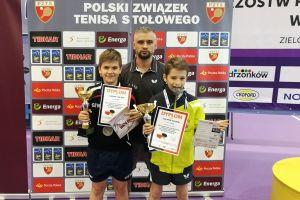 Dawid Michna z Lisa Sierakowice z dwoma medalami Mistrzostw Polski Młodzików w Tenisie Stołowym 2018