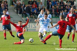 Radunia Stężyca - Wikęd Luzino. Jeden gol w pierwszej, cztery kolejne w drugiej części meczu