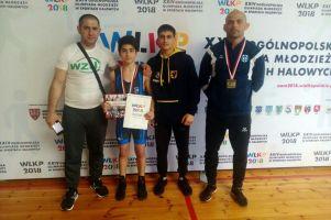 Gor Hovsepyan z Cartusii Kartuzy ze złotym medalem Ogólnopolskiej Olimpiady Młodzieży w Zapasach 2018