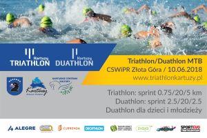 Triathlon i Duathlon MTB Kartuzy 2018. Piękne miejsce, sprinterskie dystanse i rower do wygrania