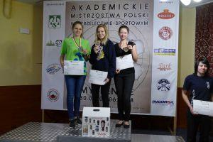 Diana Malotka - Trzebiatowska zdobyła trzy medale Akademickich Mistrzostw Polski w Strzelectwie 2018