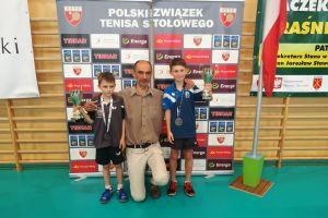 Samuel Michna z Lisa Sierakowice na podium Mistrzostw Polski Żaków w Tenisie Stołowym 2018
