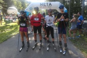 Zawodnicy Cartusii Kartuzy startowali w maratonie nartorolkowym SworneRace60 w Chocińskim Młynie
