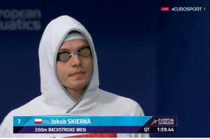 Jakub Skierka nie popłynie w finale 200 m pływackich mistrzostw Europy.