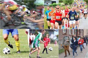 Rajd rowerowy, biegi i wiele piłkarskich meczów w ten weekend