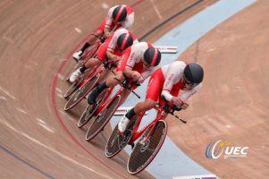 Damian Sławek czwarty w omnium, drużyna piąta w wyścigu na dochodzenie podczas ME w Szwajcarii