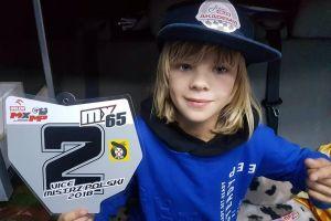 Dawid Zaremba z klubu KMX Kaszuby motocrossowym wicemistrzem Polski w klasie MX65