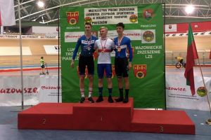Nikodem Grzenkowicz z medalem torowych mistrzostw Polski. To 20. podium kolarzy Cartusii w tym sezonie