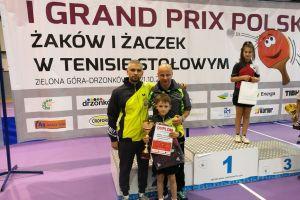 Samuel Michna na podium Grand Prix Polski Żaków w Tenisie Stołowym Zielonej Górze