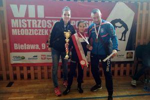 Dominka Konkel mistrzynią Polski młodziczek w zapasach. W debiucie nie miała sobie równych