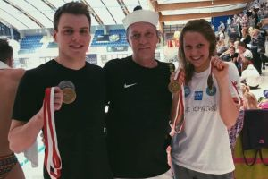 Jakub Skierka ze złotym i srebrnym medalem Zimowych Mistrzostw Polski w Pływaniu 2018