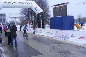 Natalia Śliwińska i Tomasz Rzeszutek na podium wyścigu Velomania CX Race w Gdyni