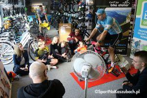Tour de Bike Atelier 2019 w Kartuzach. Michał Kostuch i Natalia Lewandowska najszybsi na trenażerach