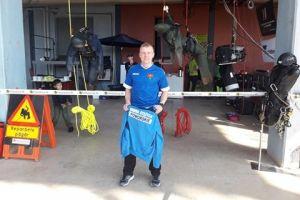 Artur Piechowski ze Stężycy startował w mistrzostwach pracowników i ratowników wysokościowych w Szwecji