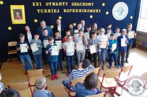 Otwarty Szachowy Turniej Kopernikowski 2019. Ponad 80 młodych zawodników zagrało w SP nr 2 w Kartuzach
