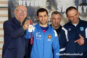 Gevorg Sahakyan powitany w Kartuzach z medalem mistrzostw Europy