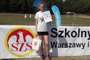 Oliwia Chmurzyńska w czołówce finału Igrzysk Młodzieży Szkolnej w Biegach Przełajowych