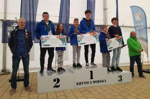 Załogi Lamelki Kartuzy i ŻUKS Stężyca na podium Pucharu Polskiego Związku Żeglarskiego w Krynicy Morskiej
