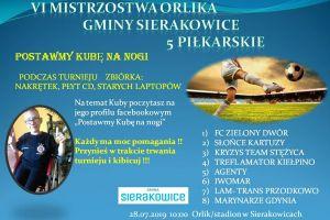 Osiem drużyn zagra w Mistrzostwach Orlika Piątek Piłkarskich w Sierakowicach
