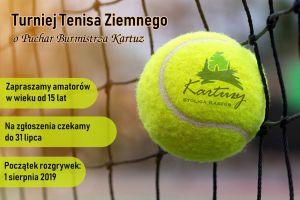 Wkrótce rusza Turniej Tenisa Ziemnego o Puchar Burmistrza Kartuz w Grzybnie 2019. Trwają zapisy